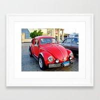 mini Framed Art Prints featuring Mini by Magic Emilia
