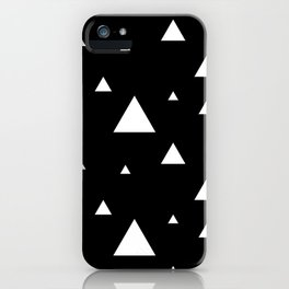 Black with White Triangles iPhone Case