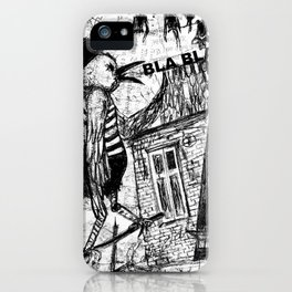 bla,bla,bla iPhone Case