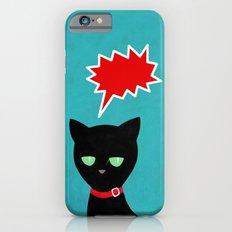 cat -Black cat iPhone 6s Slim Case