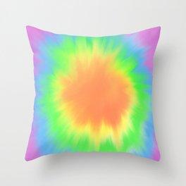 Bright Tie Dye  Throw Pillow