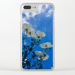 White Poppies Clear iPhone Case