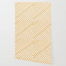 Crossing Lines - Orange Wallpaper