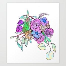Floral Energy Art Print