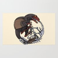 bouletcorp Area & Throw Rugs featuring Ouroboros by Bouletcorp