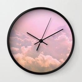Taffy Clouds Wall Clock