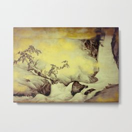 A Golden Winter Metal Print