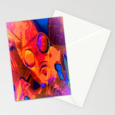 Abstract Gasmask Stationery Cards