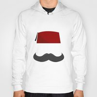 fez Hoodies featuring Man with a Fez by Emir Simsek