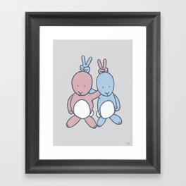 Bunny Ears Framed Art Print