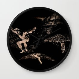 """Francisco Goya """"Where There's a Will There's a Way (A way of Flying)"""" Wall Clock"""