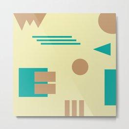 Floating Shapes Metal Print