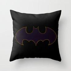 Batgirl Symbol Throw Pillow