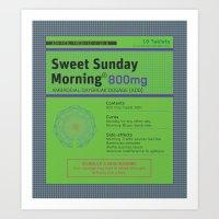 Sweet Sunday Morning Poster Series - 3 Art Print