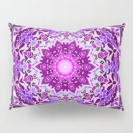 aurora mandala purple Pillow Sham