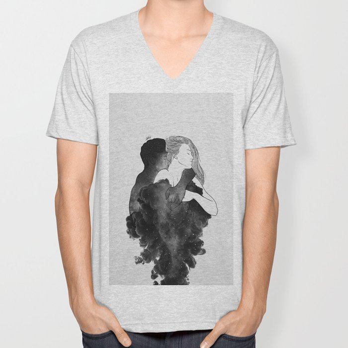 You are my peaceful heaven b&w. Unisex V-Neck