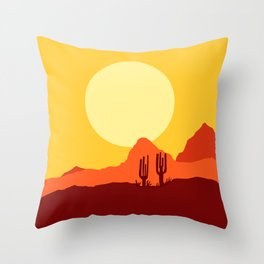 Mojave desert scene Throw Pillow