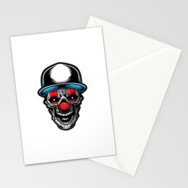 Ilustracion Payaso Calavera Stationery Cards