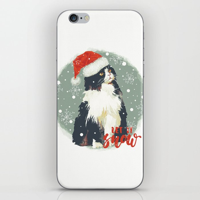 Vintage Christmas (Cat Edition 2) iPhone Skin