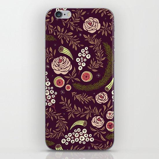 Autumn's Dusk Floral iPhone & iPod Skin