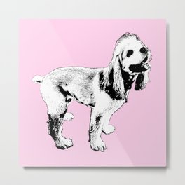 Ginger Happy Cocker Spaniel Metal Print