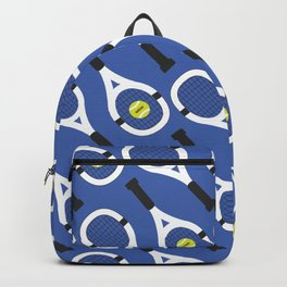 Tennis Pattern (Blue/White) Backpack