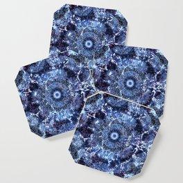 Iris Mandala Blue Coaster