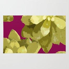 Succulent Plants On A Burgundy Background #decor #buyart #society6 Rug