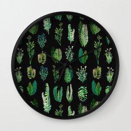 green garden at nigth water color version Wall Clock