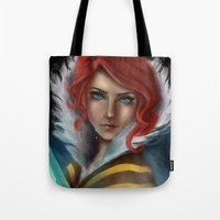 transistor Tote Bags featuring Transistor - Tears by selvaritan