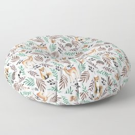 Cute forest. Watercolor Floor Pillow