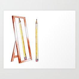No. 1 Pencil Art Print