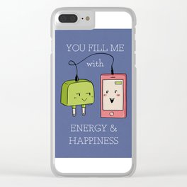 Love charger Clear iPhone Case