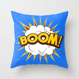 BOOM! limited edition Blue edition Throw Pillow