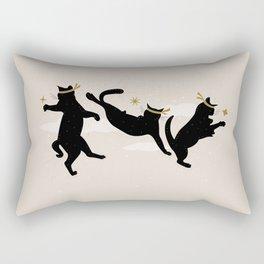 Ninja Cats I. Rectangular Pillow