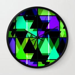 Abstract geometric pattern 3 Wall Clock