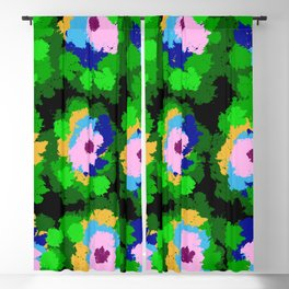 Flowers for Jackson Pollock, Matisse and Van Gogh. Blackout Curtain