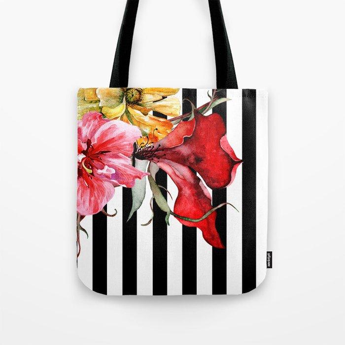 FLORA BOTANICA   stripes Tote Bag