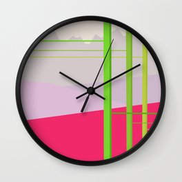 Electric Frontier in a Digital Age Wall Clock
