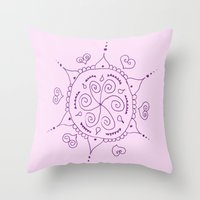 henna Throw Pillows featuring Henna by Melissa Wildt