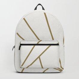 Diamond Series Sun Burst Gold on White Backpack