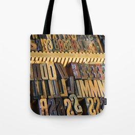 Type Drawer Tote Bag