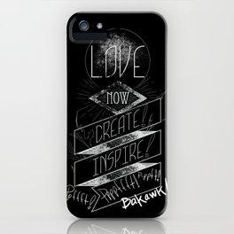 Love NOW, Create, Inspire, Pppfffft ppffft p-ppfft iPhone Case