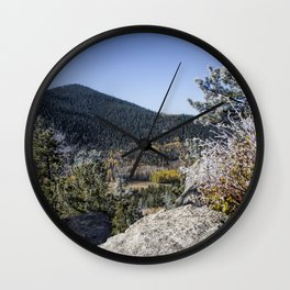 Frost and Flames Wall Clock