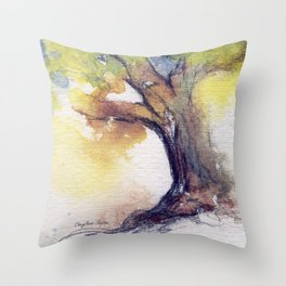 My Tree watercolor by CheyAnne Sexton Throw Pillow