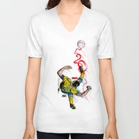 zlatan V-neck T-shirts featuring FantaSweden Zlatan Swirl  by Akyanyme