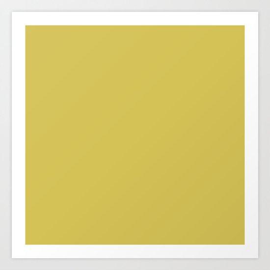 Simply Mod Yellow Art Print