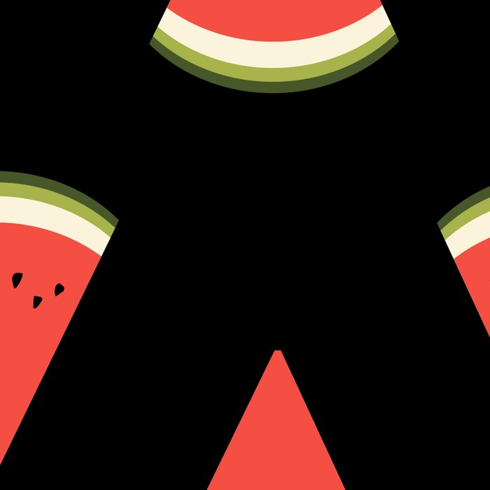 watermelon fruit stripes food fight apparel and gifts black Leggings