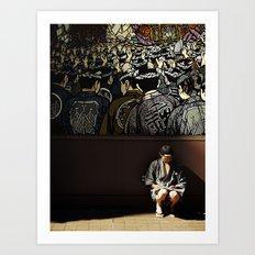 Tokyo Graffiti Art Print