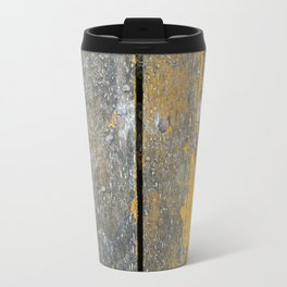 Ocean Weathered Wood With Lichen Travel Mug